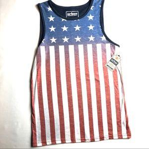 🌸URBAN PIPELINE Men's American Flag Tank Top